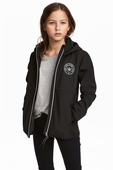 Hooded softshell jacket - Black -  | H&M IE