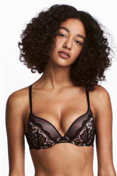 Super push-up in pizzo - Nero -  | H&M CH