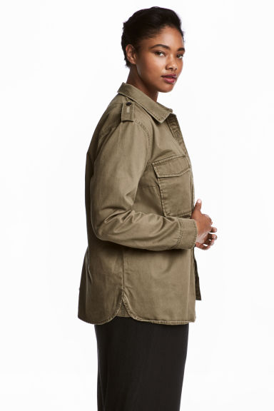 H&M+ Utility jacket - Khaki green - Ladies | H&M CN