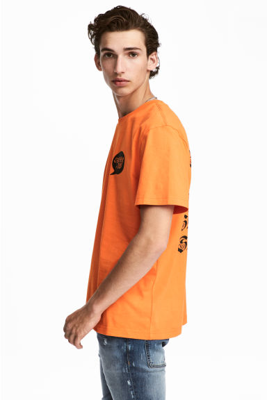 Printed T-shirt - Orange -  | H&M IE