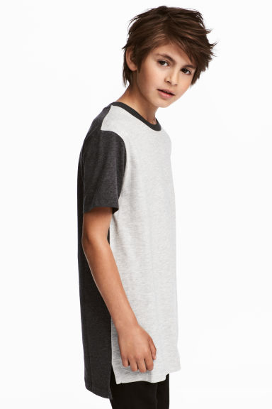 Cotton T-shirt - Light grey marl - Kids | H&M