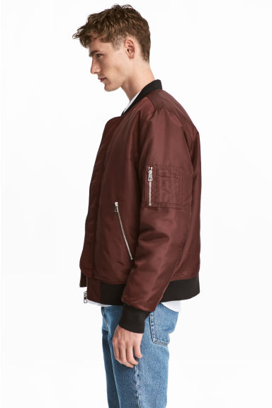 Nylon pilotenjack - Bordeauxrood -  | H&M NL