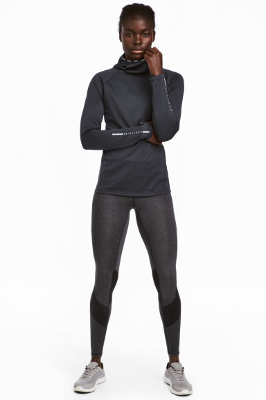 Running tights - Dark grey marl - Ladies | H&M