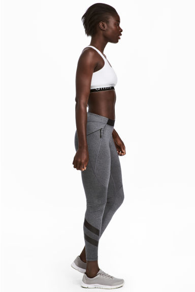 Outdoor tights - Grey marl -  | H&M