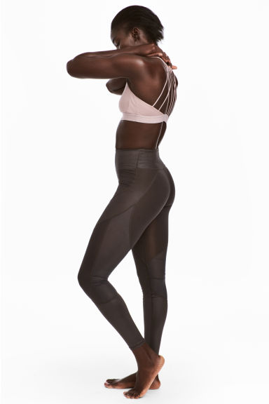 Yoga tights - Dark brown - Ladies | H&M