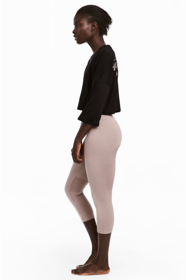 Seamless yoga tights - Powder pink -  | H&M GB