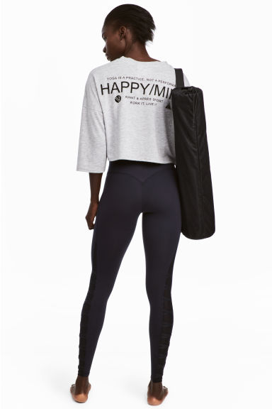 Yogalegging - Shaping taille - Zwart -  | H&M BE