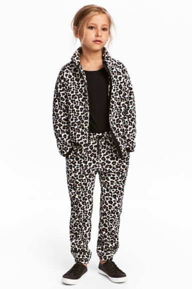 Fleece trousers - Leopard print - Kids | H&M CN