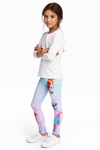 Tricot legging - Paars/Trolls - KINDEREN | H&M BE