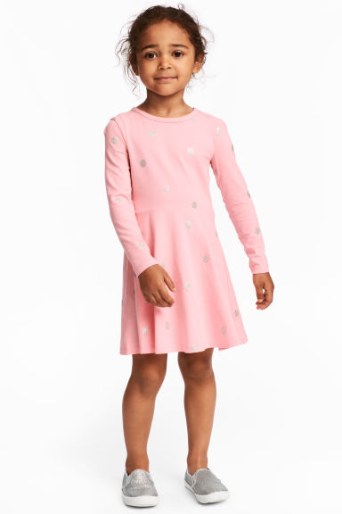 Jersey dress - Light pink/Spotted - Kids | H&M CN