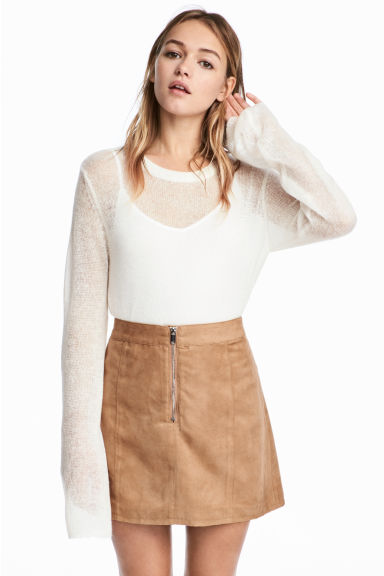 Short skirt - Camel -  | H&M