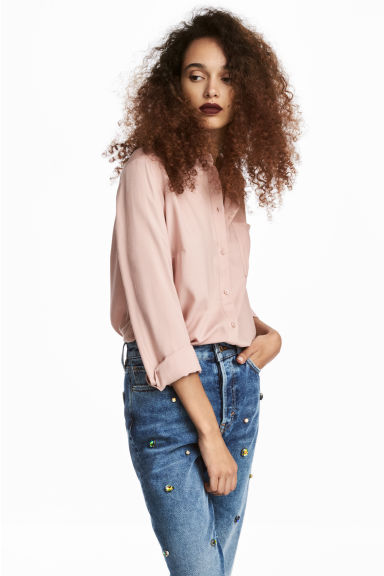 Viscose shirt - Powder pink - Ladies | H&M CA