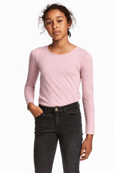 2-pack tops - Dusky pink/Dark grey marl -  | H&M