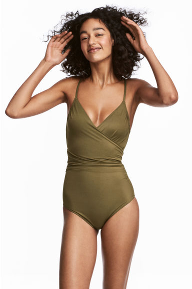 Shaping swimsuit - Khaki green - Ladies | H&M
