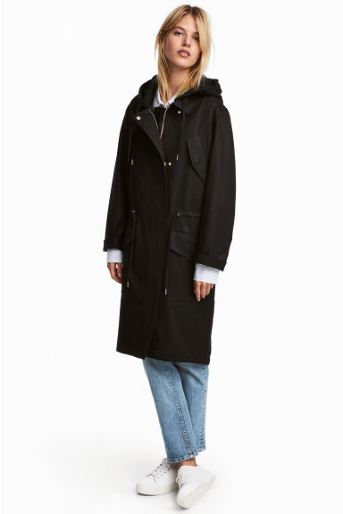 Parka in misto lyocell - Nero -  | H&M IT