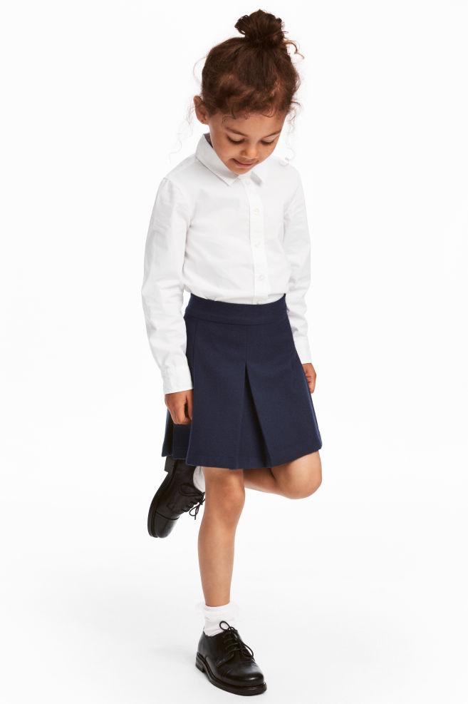 Veckad kjol - Mörkblå - BARN  be4baafc215ae