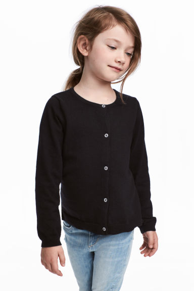 Cotton cardigan - Black - Kids | H&M CN