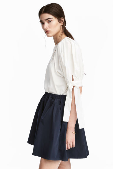 Flared skirt - Dark blue - Ladies | H&M