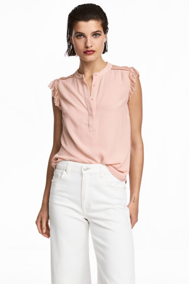 Crêpe blouse - Powder pink - Ladies | H&M IE