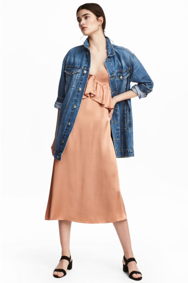 Long Denim Jacket - Dark denim blue -  | H&M US