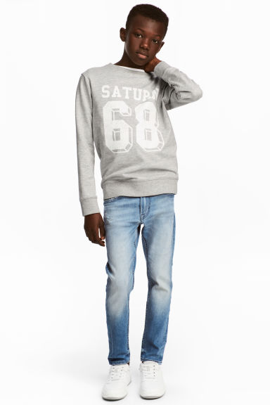 Relaxed Tapered fit Jeans - Bleu denim clair - ENFANT | H&M FR