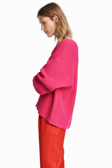 Ribbed jumper - Cerise - Ladies | H&M IE