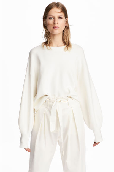 Fine-knit jumper - White - Ladies | H&M CN