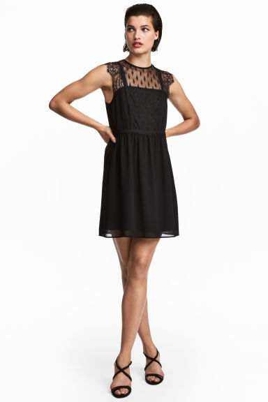 Lace dress - Black -  | H&M CN