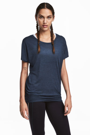 Sports top - Dark blue - Ladies | H&M CN
