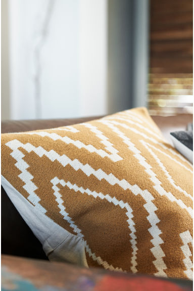 Jacquard-weave Cushion Cover - Camel - Home All | H&M US