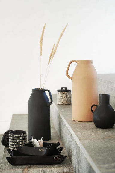 Vaso alto in gres - Cammello - HOME | H&M IT