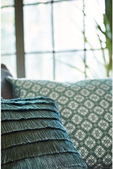 Patterned cushion cover - Moss green - Home All | H&M GB