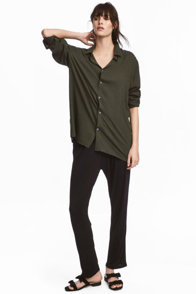 Jersey trousers - Black -  | H&M GB