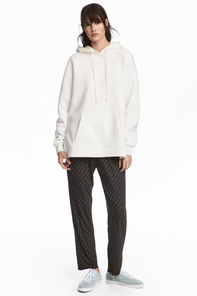 平紋長褲 - Black/Patterned -  | H&M