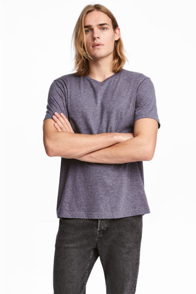 Rundhalsad t-shirt Regular fit - Lila - HERR | H&M SE