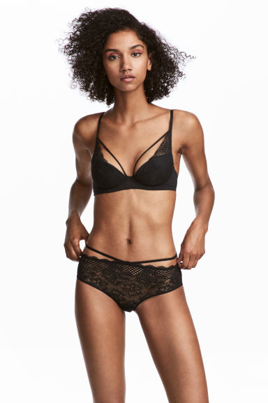 Lace hipster briefs - Black -  | H&M