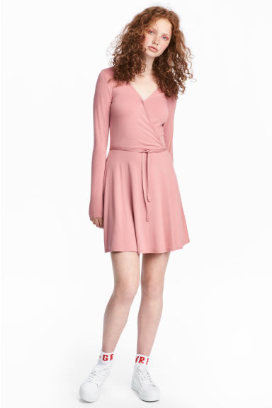 V-neck dress - Pink -  | H&M