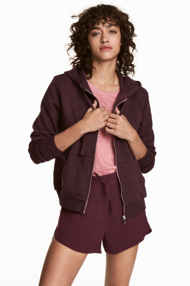 Capuchonvest - Bordeauxrood - DAMES | H&M NL