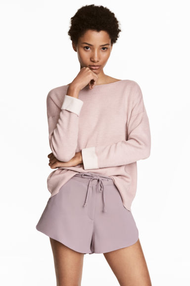 Knitted wool-blend jumper - Pink - Ladies | H&M IE