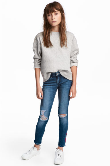 Skinny fit Worn Jeans - Dark denim blue - Kids | H&M CN