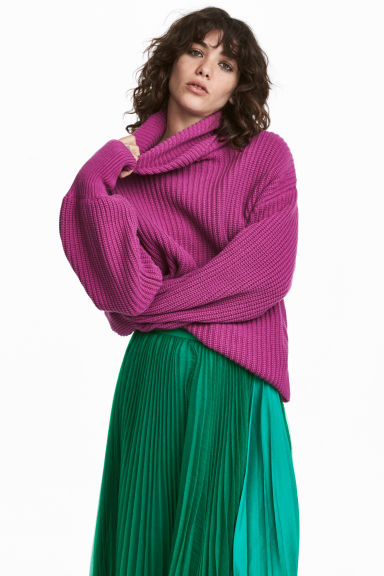 Knitted jumper - Magenta -  | H&M