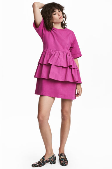 Flounced tunic - Magenta - Ladies | H&M
