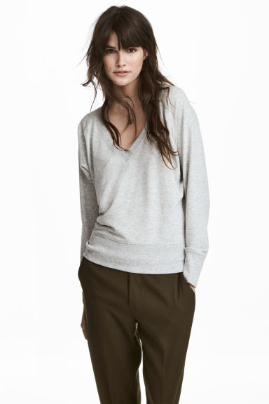 Sweatshirt - Grey marl - Ladies | H&M CN