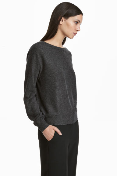 Cashmere jumper - Dark grey -  | H&M