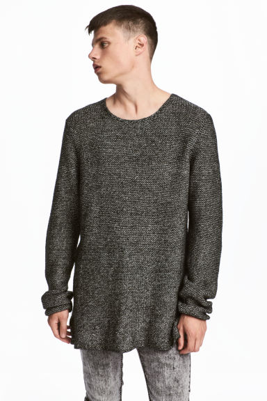 Knitted jumper - Dark grey marl -  | H&M