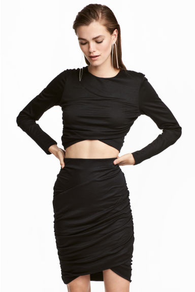 Cropped top - Black - Ladies | H&M