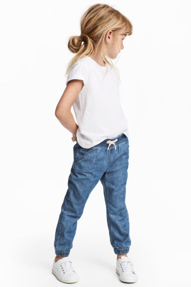 Pull-on trousers - Blue/Chambray - Kids | H&M IE
