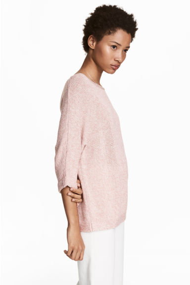 Purl-knit jumper - Light pink - Ladies | H&M