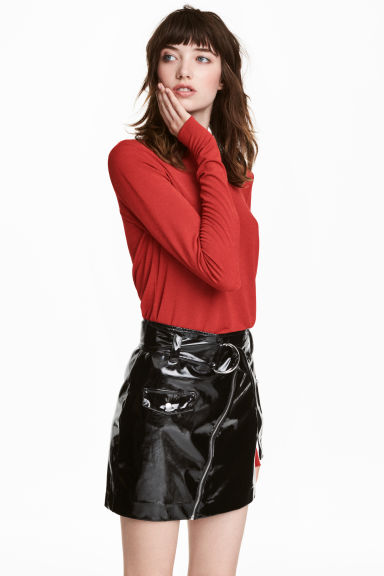 Jersey crêpe top - Rust red -  | H&M GB