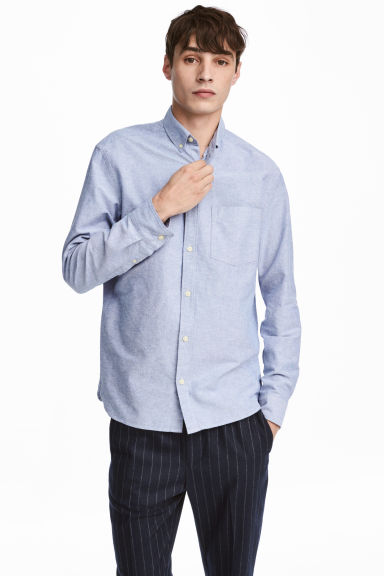 Oxfordhemd Regular Fit - Hellblau - HERREN | H&M CH